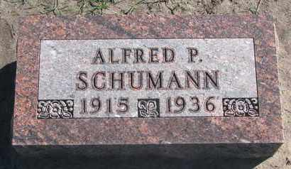 SCHUMANN, ALFRED P. - Union County, South Dakota | ALFRED P. SCHUMANN - South Dakota Gravestone Photos