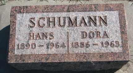 SCHUMANN, HANS - Union County, South Dakota | HANS SCHUMANN - South Dakota Gravestone Photos