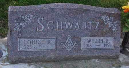 SCHWARTZ, LOUISE K. - Union County, South Dakota   LOUISE K. SCHWARTZ - South Dakota Gravestone Photos