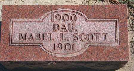 SCOTT, MABEL L. - Union County, South Dakota | MABEL L. SCOTT - South Dakota Gravestone Photos