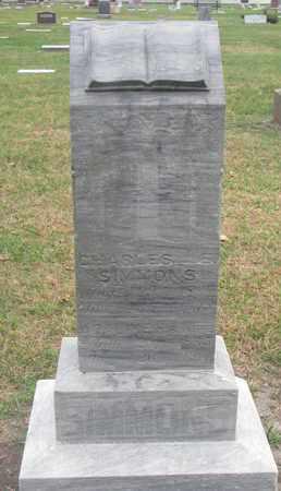 SIMMONS, CHARLES - Union County, South Dakota   CHARLES SIMMONS - South Dakota Gravestone Photos