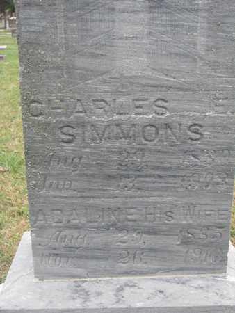 SIMMONS, CHARLES (CLOSEUP) - Union County, South Dakota | CHARLES (CLOSEUP) SIMMONS - South Dakota Gravestone Photos