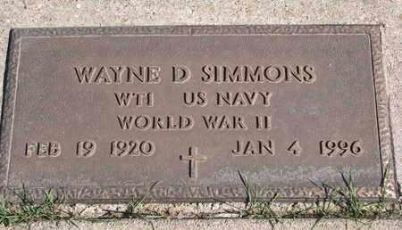 SIMMONS, WAYNE D. (WORLD WAR II) - Union County, South Dakota | WAYNE D. (WORLD WAR II) SIMMONS - South Dakota Gravestone Photos