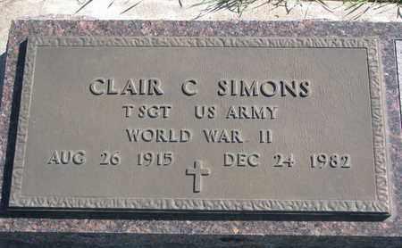 SIMONS, CLAIR C. (WORLD WAR II) - Union County, South Dakota | CLAIR C. (WORLD WAR II) SIMONS - South Dakota Gravestone Photos