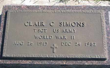 SIMONS, CLAIR C. (WORLD WAR II) - Union County, South Dakota | CLAIR C. (WORLD WAR II) SIMONS - South Dakota Gravestone Photos