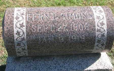 SIMONS, FERN L. - Union County, South Dakota   FERN L. SIMONS - South Dakota Gravestone Photos