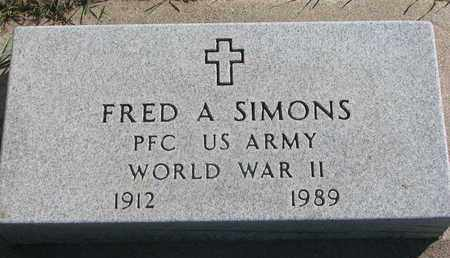 SIMONS, FRED A. (WORLD WAR II) - Union County, South Dakota   FRED A. (WORLD WAR II) SIMONS - South Dakota Gravestone Photos