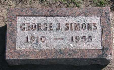 SIMONS, GEORGE J. - Union County, South Dakota   GEORGE J. SIMONS - South Dakota Gravestone Photos
