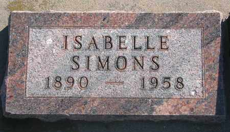 SIMONS, ISABELLE - Union County, South Dakota | ISABELLE SIMONS - South Dakota Gravestone Photos