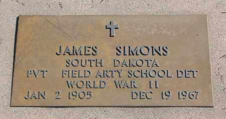 SIMONS, JAMES (WORLD WAR II) - Union County, South Dakota   JAMES (WORLD WAR II) SIMONS - South Dakota Gravestone Photos