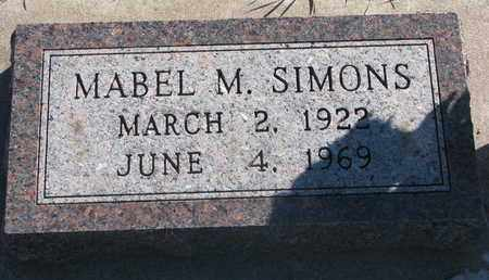 SIMONS, MABEL M. - Union County, South Dakota   MABEL M. SIMONS - South Dakota Gravestone Photos