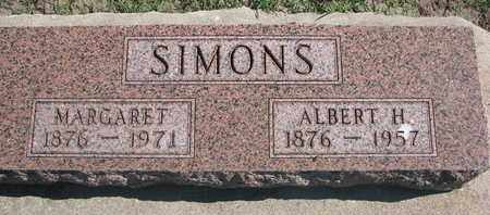 SIMONS, ALBERT H. - Union County, South Dakota   ALBERT H. SIMONS - South Dakota Gravestone Photos