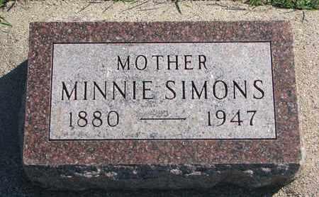 SIMONS, MINNIE - Union County, South Dakota | MINNIE SIMONS - South Dakota Gravestone Photos