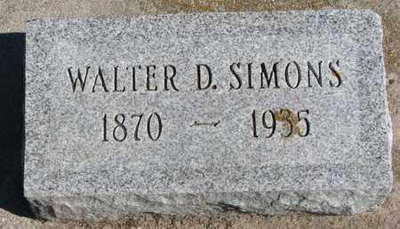SIMONS, WALTER D. - Union County, South Dakota | WALTER D. SIMONS - South Dakota Gravestone Photos