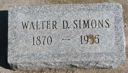 SIMONS, WALTER D. - Union County, South Dakota | WALTER D. SIMONS - South Dakota Gravestone Photos