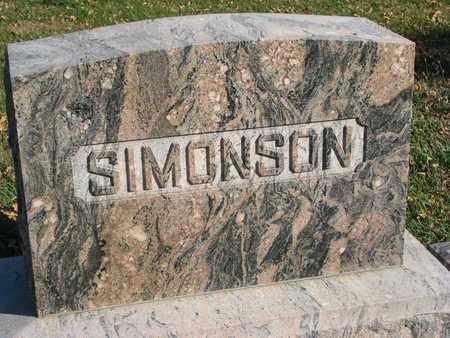 SIMONSON, FAMILY STONE - Union County, South Dakota | FAMILY STONE SIMONSON - South Dakota Gravestone Photos