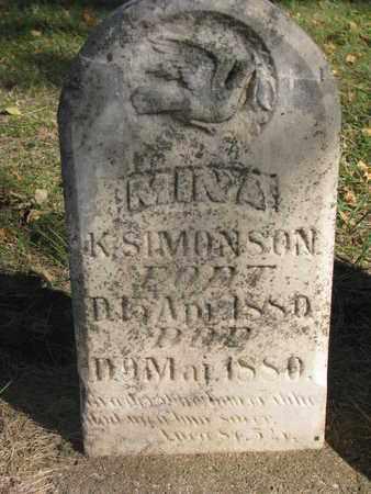 SIMONSON, MINA K. - Union County, South Dakota | MINA K. SIMONSON - South Dakota Gravestone Photos