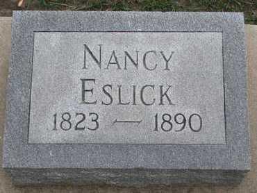ESLICK, NANCY - Union County, South Dakota   NANCY ESLICK - South Dakota Gravestone Photos