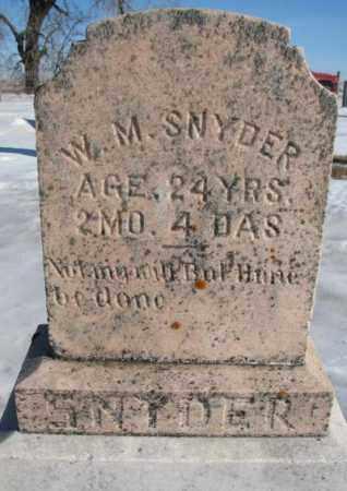 SNYDER, WILLIAM - Union County, South Dakota | WILLIAM SNYDER - South Dakota Gravestone Photos
