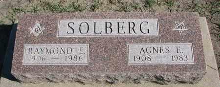 SOLBERG, AGNES E. - Union County, South Dakota | AGNES E. SOLBERG - South Dakota Gravestone Photos