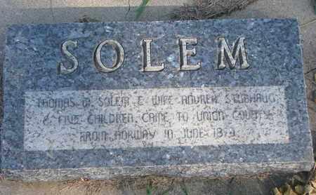 SOLEM, FAMILY STONE - Union County, South Dakota | FAMILY STONE SOLEM - South Dakota Gravestone Photos