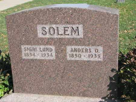 SOLEM, SIGRI - Union County, South Dakota | SIGRI SOLEM - South Dakota Gravestone Photos