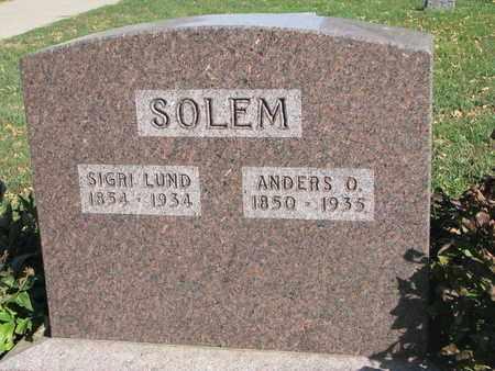 SOLEM, ANDERS O. - Union County, South Dakota | ANDERS O. SOLEM - South Dakota Gravestone Photos