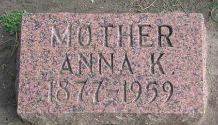 SORENSON, ANNA K. - Union County, South Dakota | ANNA K. SORENSON - South Dakota Gravestone Photos