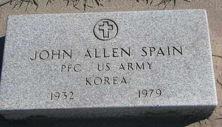 SPAIN, JOHN ALLEN - Union County, South Dakota | JOHN ALLEN SPAIN - South Dakota Gravestone Photos
