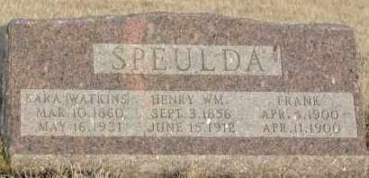 SPEULDA, FRANK - Union County, South Dakota | FRANK SPEULDA - South Dakota Gravestone Photos