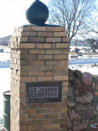 **ST. JOSEPH, GATE SIGN #2 - Union County, South Dakota | GATE SIGN #2 **ST. JOSEPH - South Dakota Gravestone Photos