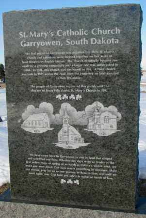 **ST. MARY'S - GARRYOWEN, HISTORY - Union County, South Dakota | HISTORY **ST. MARY'S - GARRYOWEN - South Dakota Gravestone Photos
