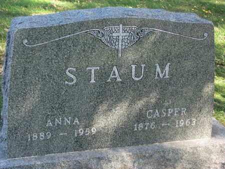 STAUM, CASPER - Union County, South Dakota | CASPER STAUM - South Dakota Gravestone Photos