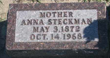 STECKMAN, ANNA - Union County, South Dakota | ANNA STECKMAN - South Dakota Gravestone Photos