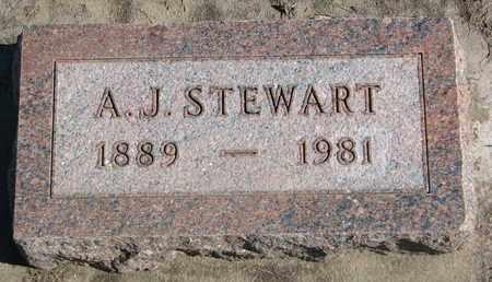 STEWART, A.J. - Union County, South Dakota | A.J. STEWART - South Dakota Gravestone Photos