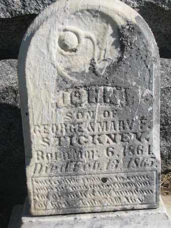 STICKNEY, JOHN - Union County, South Dakota | JOHN STICKNEY - South Dakota Gravestone Photos