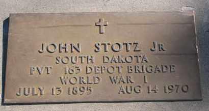 STOTZ, JOHN JR. (WORLD WAR I) - Union County, South Dakota | JOHN JR. (WORLD WAR I) STOTZ - South Dakota Gravestone Photos
