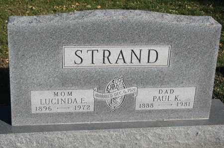 IRWIN STRAND, LUCINDA E. - Union County, South Dakota | LUCINDA E. IRWIN STRAND - South Dakota Gravestone Photos