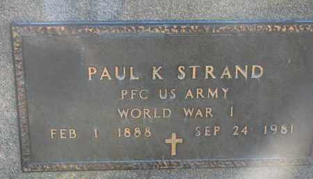 STRAND, PAUL K. (WW I) - Union County, South Dakota | PAUL K. (WW I) STRAND - South Dakota Gravestone Photos