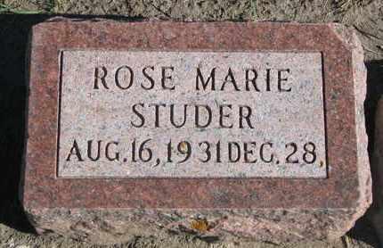 STUDER, ROSE MARIE - Union County, South Dakota | ROSE MARIE STUDER - South Dakota Gravestone Photos