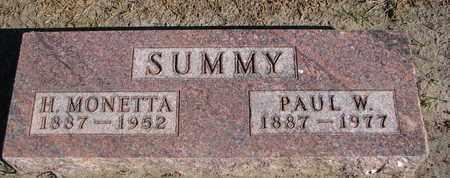 SUMMY, PAUL W. - Union County, South Dakota | PAUL W. SUMMY - South Dakota Gravestone Photos
