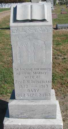 SUTHERLAND, WIFE - Union County, South Dakota | WIFE SUTHERLAND - South Dakota Gravestone Photos