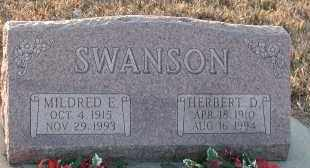 SWANSON, MILDRED EVELYN - Union County, South Dakota   MILDRED EVELYN SWANSON - South Dakota Gravestone Photos