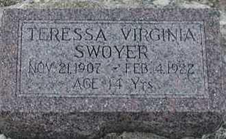 SWOYER, TERESSA VIRGINIA - Union County, South Dakota | TERESSA VIRGINIA SWOYER - South Dakota Gravestone Photos