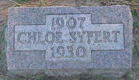 SYFERT, CHLOE - Union County, South Dakota | CHLOE SYFERT - South Dakota Gravestone Photos