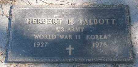 TALBOTT, HERBERT K. (WORLD WAR II) (KOREA) - Union County, South Dakota | HERBERT K. (WORLD WAR II) (KOREA) TALBOTT - South Dakota Gravestone Photos