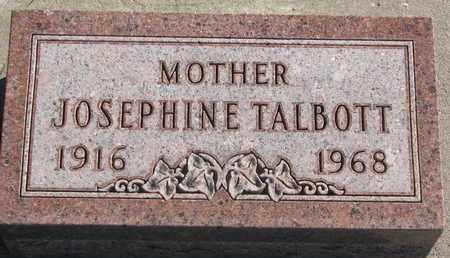 TALBOTT, JOSEPHINE - Union County, South Dakota | JOSEPHINE TALBOTT - South Dakota Gravestone Photos