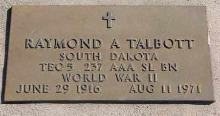 TALBOTT, RAYMOND A. (WORLD WAR II) - Union County, South Dakota | RAYMOND A. (WORLD WAR II) TALBOTT - South Dakota Gravestone Photos