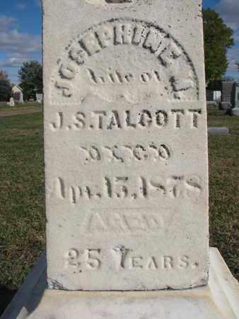 TALCOTT, JOSEPHINE M (CLOSEUP) - Union County, South Dakota   JOSEPHINE M (CLOSEUP) TALCOTT - South Dakota Gravestone Photos
