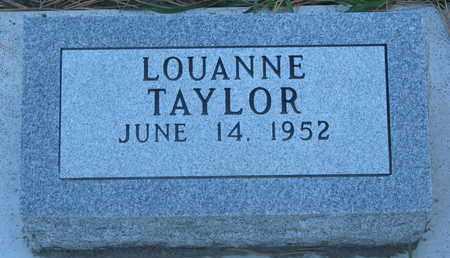 TAYLOR, LOUANNE - Union County, South Dakota | LOUANNE TAYLOR - South Dakota Gravestone Photos
